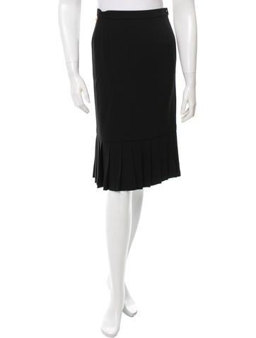 Sonia Rykiel Pleated Knee-Length Skirt