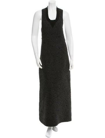 Sonia Rykiel Textured Sleeveless Maxi Dress None
