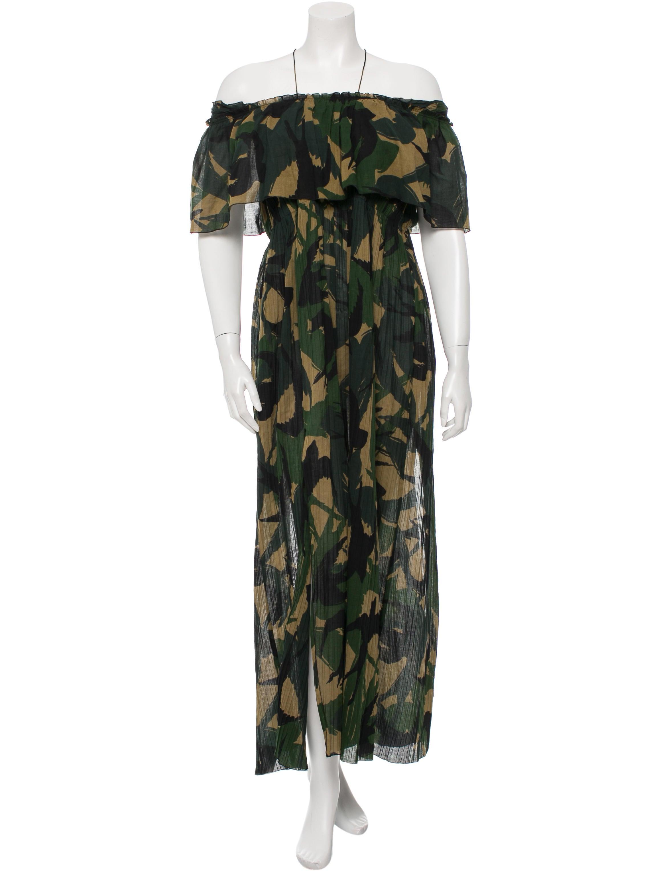 Sonia Rykiel Camouflage Off The Shoulder Dress W Tags