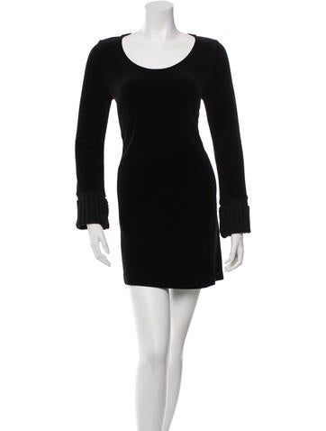 Sonia Rykiel Velvet Shift Dress None