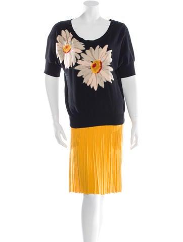 Sonia Rykiel Printed Knit Skirt Set None
