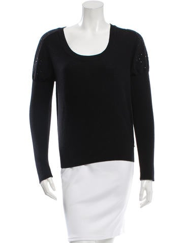 Sonia Rykiel Wool Embellished Sweater None