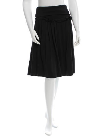 Sonia Rykiel Ruffle-Trimmed Knee-Length Skirt None