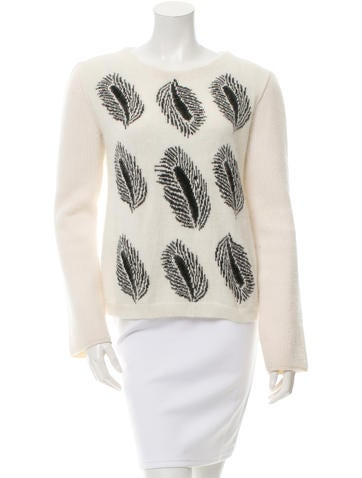 Sonia Rykiel Intarsia Rib Knit-Trimmed Sweater None