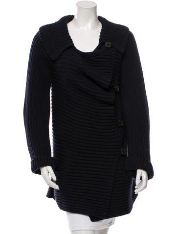 Sonia Rykiel Wool Rib-Knit Cardigan None