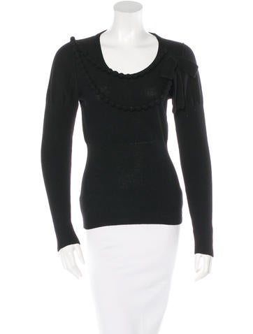 Sonia Rykiel Virgin Wool & Cashmere Embellished Sweater None