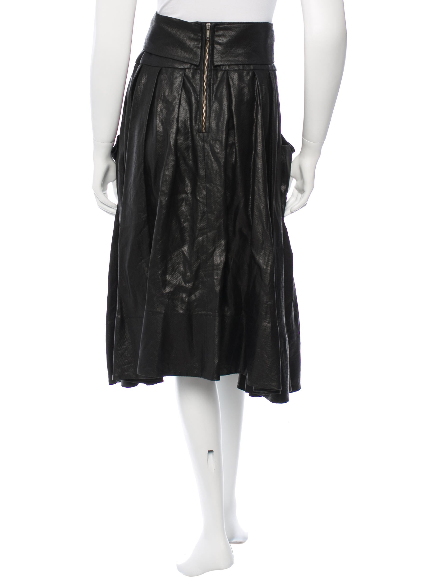 rykiel metallic midi skirt clothing son23401
