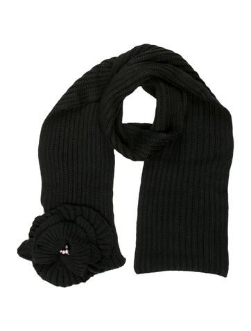 Sonia Rykiel Floral Rib Knit Scarf None
