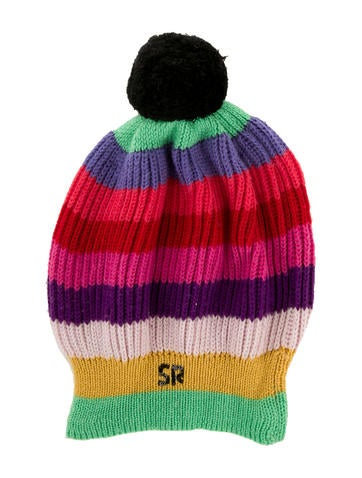 Sonia Rykiel Girls' Striped Wool Beanie None