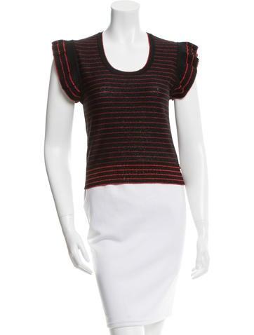 Sonia Rykiel Wool Striped Top None