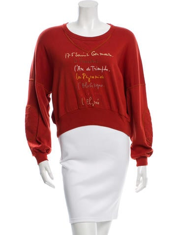 Sonia Rykiel Cropped Embroidered Sweater None