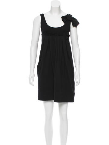Sonia Rykiel Pleated Mini Dress None