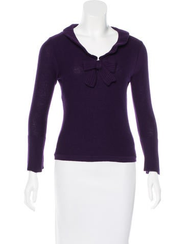 Sonia Rykiel Virgin Wool Broche-Accented Sweater None