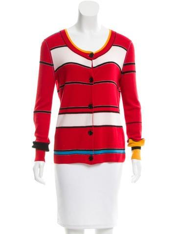 Sonia Rykiel Striped Cashmere Cardigan None