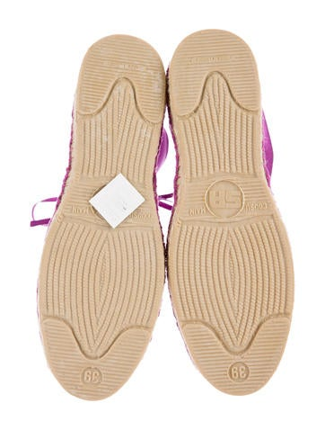 Satin Espadrille Sneakers w/ Tags