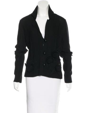Sonia Rykiel Virgin Wool Knit Jacket None