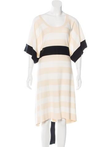 Sonia Rykiel Striped Knit Dress None