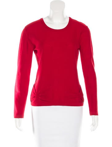 Sonia Rykiel Bow-Embellished Rib Knit Sweater None