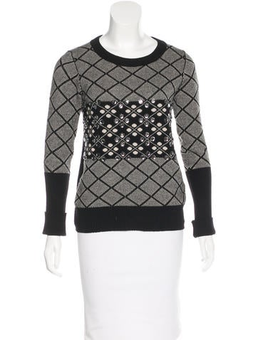 Sonia Rykiel Embellished Wool Sweater None