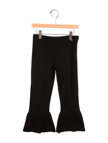 Sonia Rykiel Girls' Wool Ruffle-Paneled Pants w/ Tags None