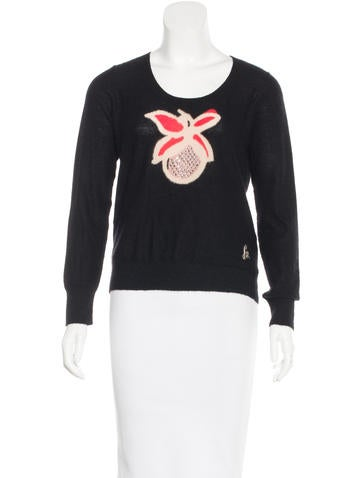 Sonia Rykiel Cashmere Embellished Sweater None