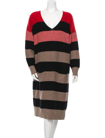 Sonia Rykiel Virgin Wool Striped Dress None