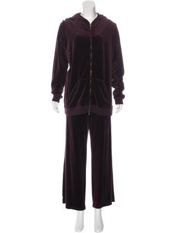 Sonia Rykiel Velour Active Track Suit None