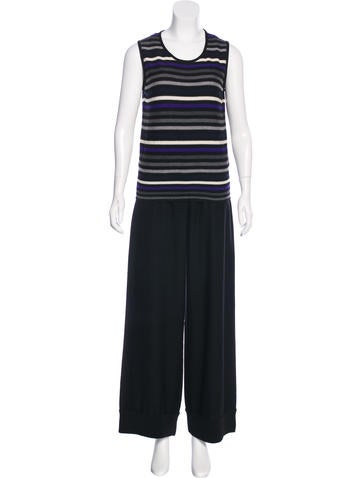 Sonia Rykiel Virgin Wool Striped Pants Set None