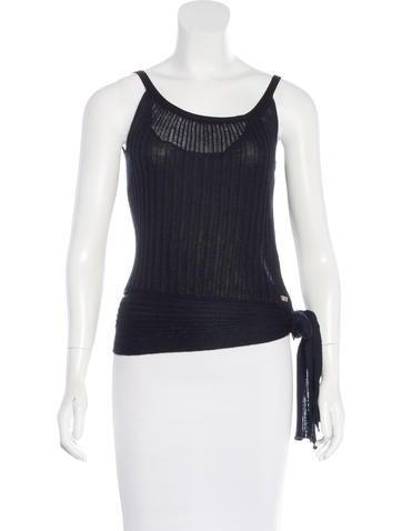 Sonia Rykiel Knit Sleeveless Top None