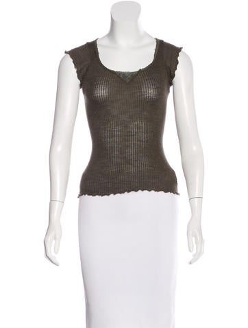 Sonia Rykiel Wool & Silk-Blend Sleeveless Top