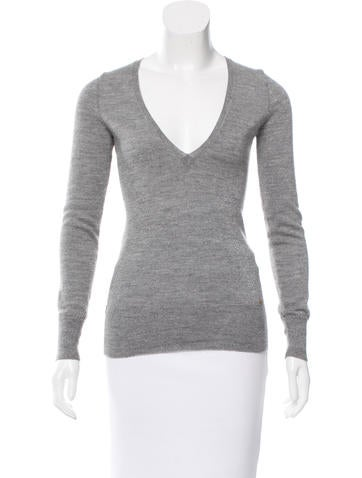 Sonia Rykiel Metallic-Accented Knit Top None