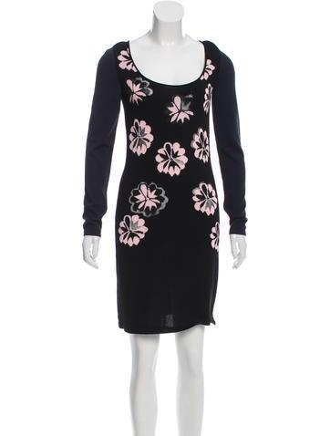 Sonia Rykiel Mesh-Paneled Floral Dress w/ Tags None