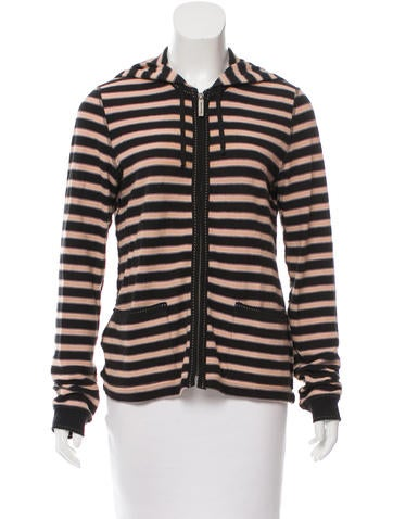 Sonia Rykiel Striped Knit Hoodie None