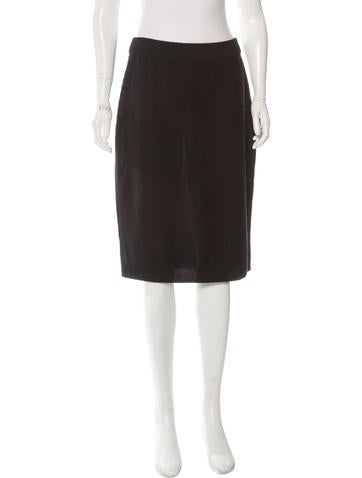 Sonia Rykiel Rib Knit Pencil Skirt None