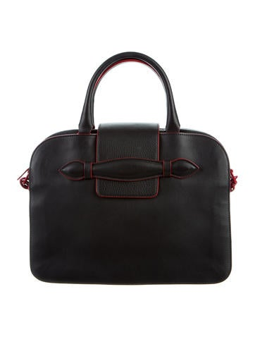 Leather Bicolor Satchel