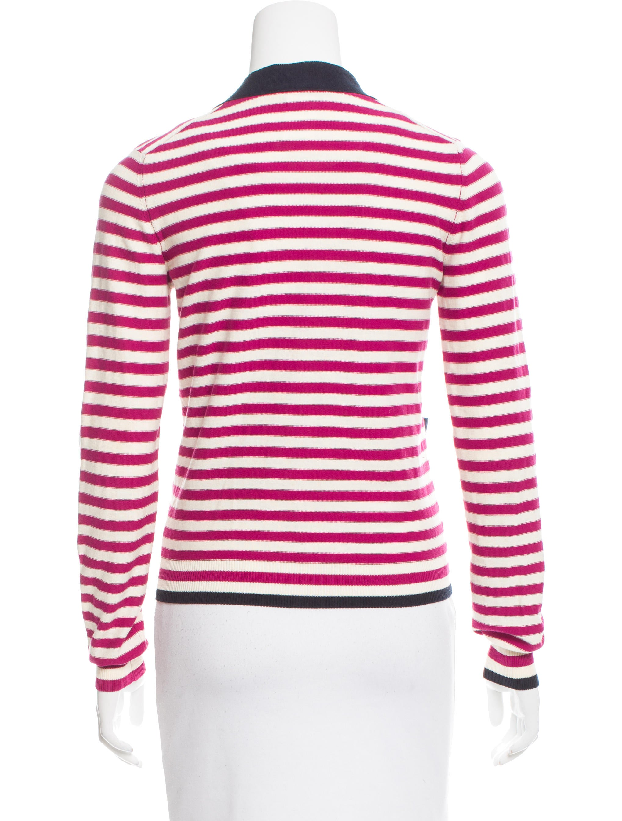 A striped cardigan is eternally in-season. This updated classic is perfected with an open front and long sleeves (and pairs perfectly with our Striped Elbow-Sleeve tee). Open-front design. Long sleeves. Regular length: 30