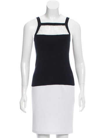Sonia Rykiel Sleeveless Rib Knit Top None