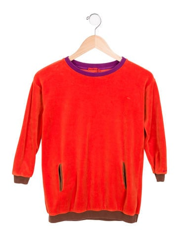 Sonia Rykiel Girls' Velvet Long Sleeve Top None