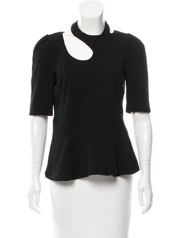 Sonia Rykiel Cutout Peplum Top None