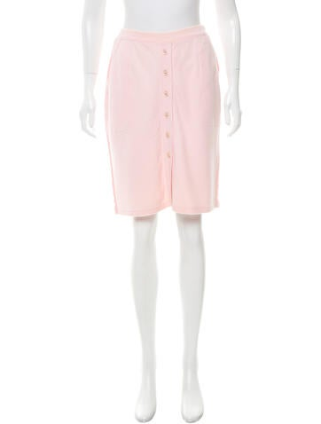 Sonia Rykiel Fitted Knee-Length Skirt None