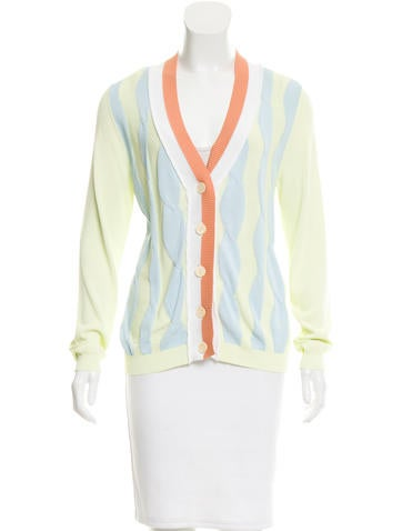 Sonia Rykiel V-Neck Patterned Cardigan None
