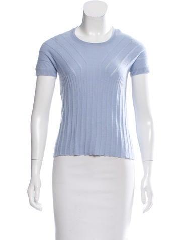 Sonia Rykiel Short Sleeve Wool Top None