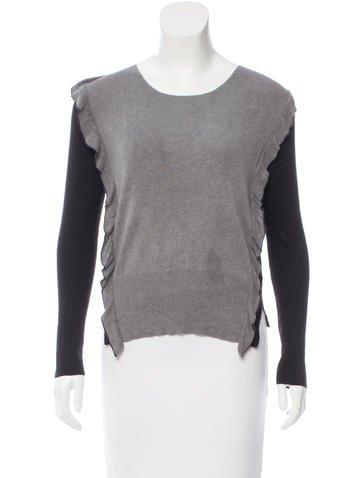 Sonia Rykiel Colorblock Silk Sweater None