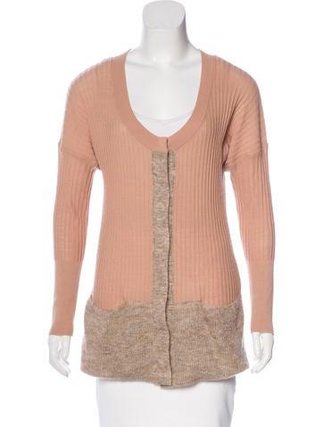 Sonia Rykiel Rib Knit Long Sleeve Cardigan None