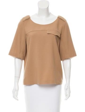 Sonia Rykiel Wool Short Sleeve Top None