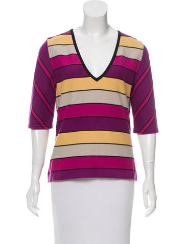Sonia Rykiel Striped Knit Top None