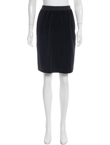 Sonia Rykiel Knee-Length Velour Skirt None