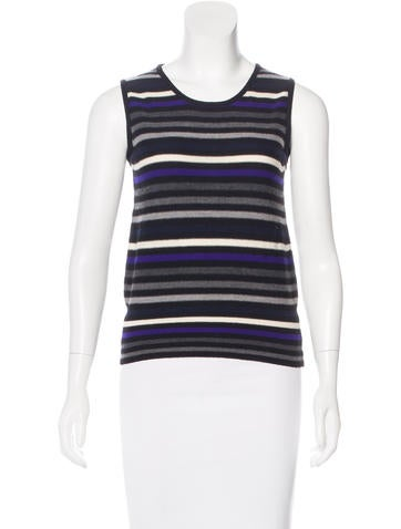 Sonia Rykiel Virgin Wool Sleeveless Top None