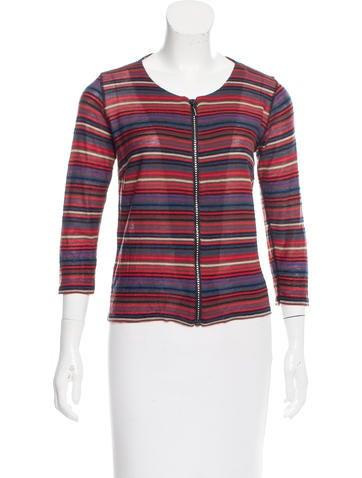 Sonia Rykiel Striped Long Sleeve Top None