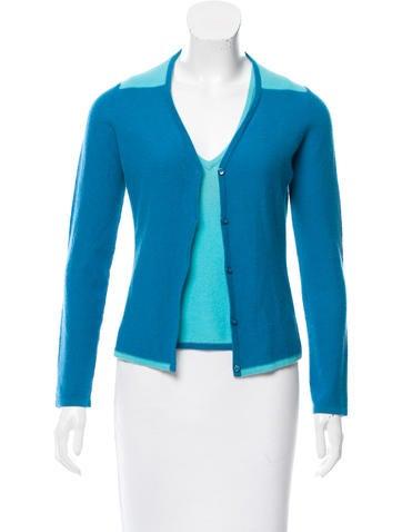 Sonia Rykiel Cashmere Colorblock Cardigan Set None